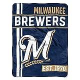 Northwest MLB Milwaukee Brewers Micro Raschel Throw, One Size, Multicolor