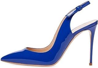 EDEFS Scarpe col Tacco con Cinturino Dietro la Caviglia Donna
