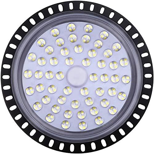 UFO LED Lámpara de Alta Bahía 50W 100W 150W 200W Lámpara Industrial Luz de techo Blanco frío LED Proyector LED IP65 Impermeable para garaje Taller de fábrica Comercial Almacén Fábricas industriales