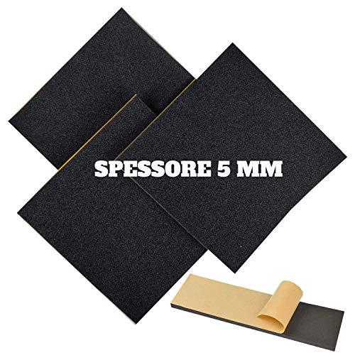 Hojas de neopreno adhesivo paquete de 3 unidades de color amarillo fabricado con goma FOLL NEP ® | hojas de neopreno | lámina de neopreno adhesiva (10 x 30 cm, 5 mm de grosor).