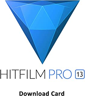 FXHOME HitFilm Pro 13.0 - All-in-One Video Editor, Compositor, and VFX Software [Download Card]