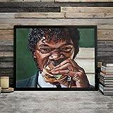 Liuxz Eats A Big Kahuna Burger Lienzo Pintura Pulp Fiction Carteles decoración de Arte de Pared Sin Marco