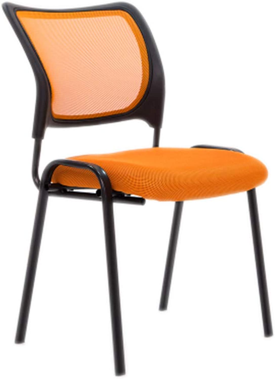 Office Chair, Staff Chair Chairs Computer Chair Net Comfortable Breathable Soft Chair Home Chair Multifunctional Chair (color   orange)
