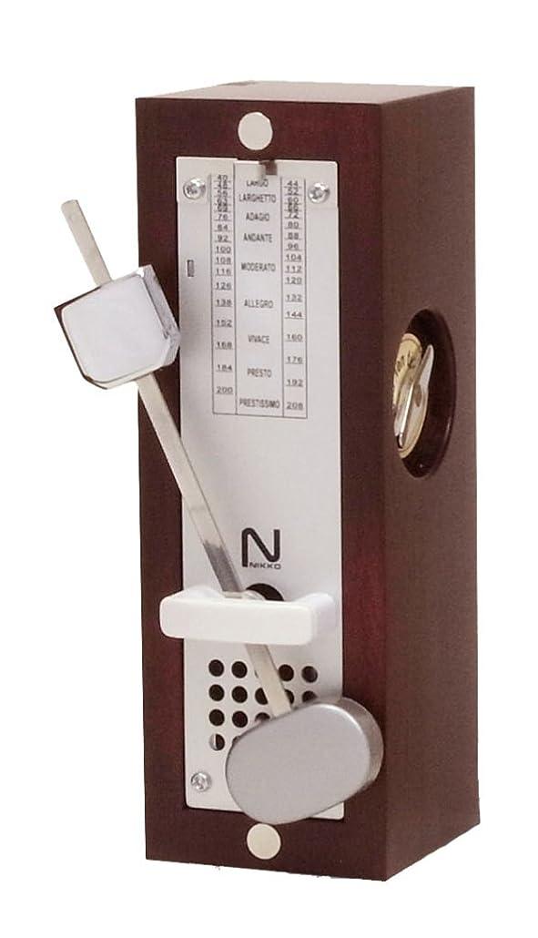 アナログ産地遊具日工 ニッコー メトロノーム 木製ミニ ワインレッド 332
