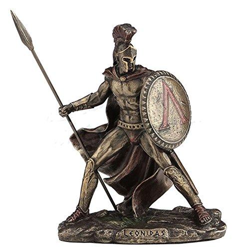 4.25' Leonidas Greek Warrior King Statue Sculpture Figurine Spartan Decor