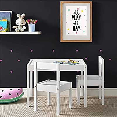 Baby Relax Hunter 3 Piece Kiddy Table and Chair Set, White (DA7501W) by Baby Relax