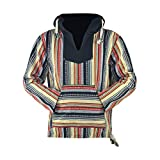 virblatt - Baja Hoodie Herren Pullover Ethno Jerga Mexican Goa Alternative Jacke - Utrecht CFL L