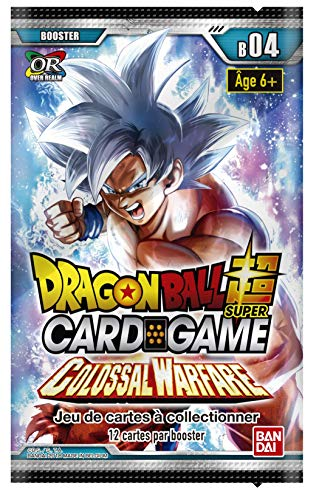 Dragon Ball Super Card Game - Booster DE 12 Cartes Serie 4 : Colossal Warefare - Version Francaise