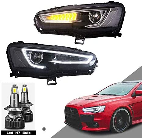 当店限定販売 MOSTPLUS Projector Headlights W Full Housing Black Compatible 人気激安 fo