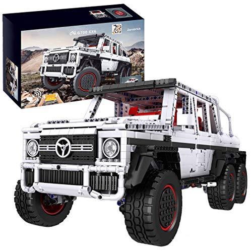 SMILOH Technik Bausteine 6x6 SUV, 3686stk Technic Geländewagen mit Fernbedienung und Doppelmotor, Kompatibel mit...