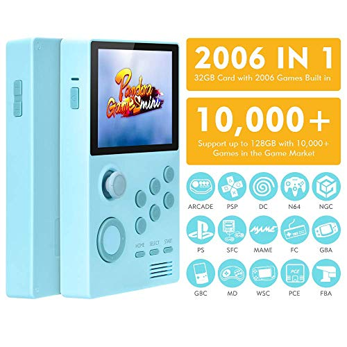TAPDRA Handheld Android Game Station Built in 2000+ Games with Muitl Emulators, Rechargeable Support WiFi / Bluetooth