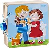 HABA 303775 - Holz-Babybuch Tierkinder | Stabiles Holzbuch ab 10 Monaten | Leicht zu greifende Seiten aus Holz mit bunten Tiermotiven - Anna Lena Filipiak