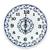 Eschenbach Porzellan Group Tallin Indischblau Wanduhr Durchmesser 24 cm, Porzellan, Indigoblau, 1 x 1 x 1 cm