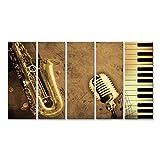 islandburner Bild Bilder auf Leinwand Sepia Saxophon