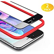 BANNIO 3D Verre Trempé Full Screen en iPhone 6 / iPhone 6S, [2 Pièces] Film Protection Écran Integrale pour iPhone 6 / 6S - Anti Rayures, 3D Touch, avec Kit d'Installation - Assurance Qualité (Noir)