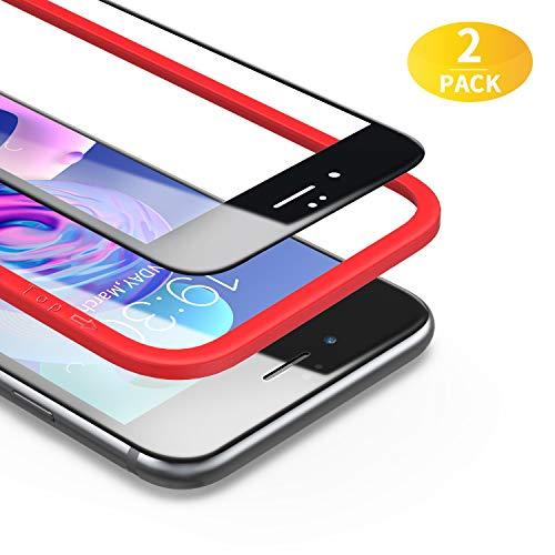 BANNIO für Panzerglas für iPhone 6 / iPhone 6S,2 Stück 3D Full Screen Panzerglasfolie Schutzfolie für iPhone 6 / iPhone 6S,9H Härte Displayschutzfolie,Blasenfrei,4,7 Zoll,Schwarz