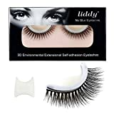 LIDDY 3D Lashes Self-adhesive False Eyelashes Makeup Reusable Natural Hand Made Fake Eyelashes– Natural Fashion Eye Lash Extensions for Fashion &Makeup (3D-02)