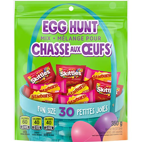 Skittles and Starburst Mars Candy Easter Egg Hunt Spring Candy Variety Mix, 30 Pieces, 30 Count