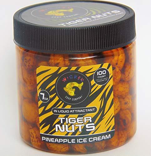 7oz (~100/tub) Pineapple Ice Cream Prepared Tiger Nuts in Liquid   PVA Friendly Carp Bait & Catfish Bait