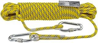 GLJJQMY Climbing Rope Static Rope 8mm Diameter Length 5/10/20/30/40/50/60/80/100m Yellow High-Rise Home Emergency Rope Walking Rope Ropes (Size : 80M)