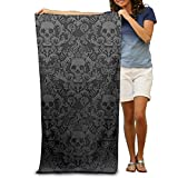 fjfjfdjk Bath Towel Skull Skeleton Patterned Soft Beach Towel 31'x 51' Towel With Unique Design