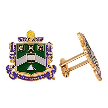 Delta Sigma Phi Fraternity Crest Cufflinks Greek Formal Wear Blazer Jacket Delta Sig
