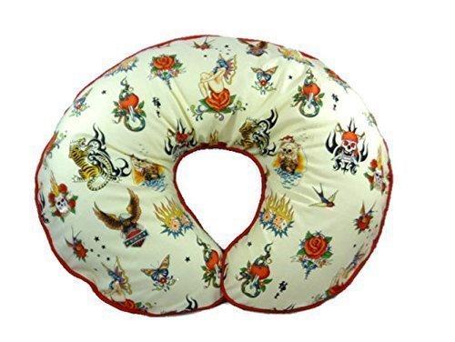 Nursing Pillow Cover Cream Biker Tattoos for Baby Boy or Baby Girl