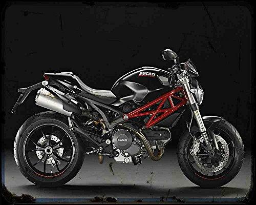 Red Rat Ducati Monster 796 14 1 A4 Blechschild Motorrad Vintage Aged