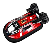 YSKCSRY Amphibious Vehicle High Speed Racing Rowing 2.4GHZ Wireless RC Hovercraft All-Terrain Vehicle Suitable for Adults and Children Stunt Car Electric Toys Car Model
