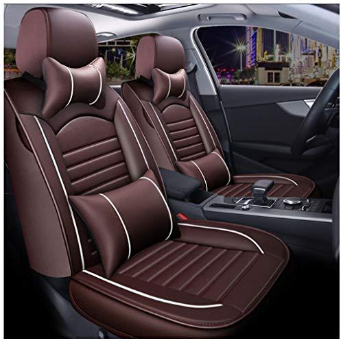 Fundas de asiento de coche personalizadas de lujo conjunto completo pu cuero asiento cojín cubierta