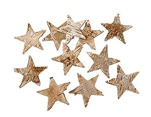 100 Stk Birkensterne Weihnachten Tischdekoration Sterne Birke Birkensterne Rinde Holz Dekosterne Holzsterne Birkenrinde Stern Streuteile Basteln xmas Weihnachtssterne