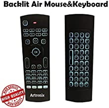 【 Newest Version Backlight 】 ARTRONIX Air Mouse Keyboard Remote, Remote Control Fly Air Remote Mouse Compatible for Android SmarTV Box PC IPTV (Pack of 1)