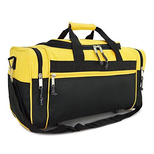 DALIX Sporttasche, 48,3 cm, Schwarz / Rot / Pink / Violett / Marineblau / Grau / Blau, gold (Gold) - DF-019-Gold