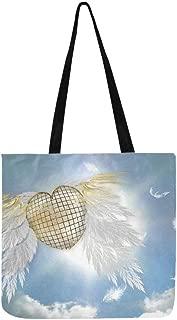 Apophysis Fractals Emotion Angel Fantasy Heart Canvas Tote Handbag Shoulder Bag Crossbody Bags Purses For Men And Women Shopping Tote