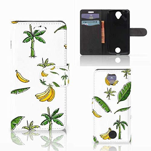 B2Ctelecom Lederhülle für Acer Liquid Z330 Handytasche Bananenbaum