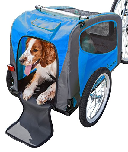 Schwinn Rascal Bike Pet Trailer, For Small and Large Dogs, Small, Green