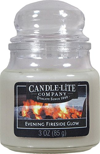 Candle-lite - Duftkerze im Glas, Evening Fireside Glow 85g, Grau, 6 x 6 x 9.5 cm