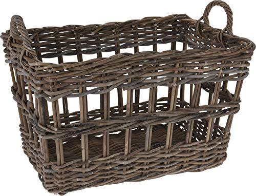 Large Heavy Duty Kubu Log Basket Fireside Wicker Storage Container