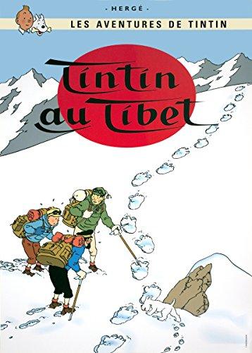 Póster Moulinsart álbum de Tintín: Tintín en el Tíbet 22190 (70x50cm)