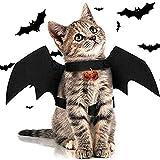 Chat de Chien Halloween Habiller 1 Pièces Costume Chat Ailes De Chauve-Souris Halloween...