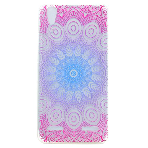 Coffeetreehouse Lenovo A6000 /Lemon K3 case,Lenovo A6000 /Lemon K3 Cover[Scratch-Resistant],Sporting Perfect Fit Unique Fashion TPU Clear Soft Silicone Back Colorful Printed Pattern Silicone Case Protective Cover Cell Phone Case for Lenovo A6000 /Lemon K3 - Datura flowers
