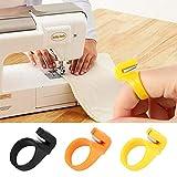 Lobboy Máquina de Coser Accesorios 3pcs / Set Nuevo Dedo de la Hoja de la Aguja Craft Inicio plástico Anillo de Costura dedal Corte de Hilo de Bricolaje del hogar Máquina de Coser Accesorios