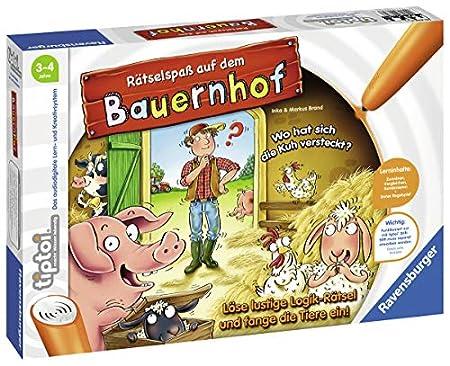 Ravensburger tiptoi Spiel - Rätselspaß auf dem Bauernhof