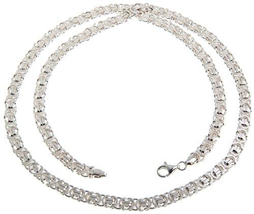 Flache Königskette 925 Silber - 6mm, Länge 40-100cm