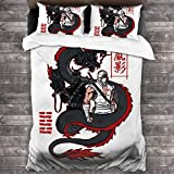 FDASLJ Arashikage Clan Storm Shadow Snake Eyes GI Dragon Joe 3 Pieces Bedding Set Duvet Cover 86'' x70,Queen Decorative 3 Piece Bedding Set with 2 Pillow Shams