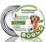 ProHomer® Collares Antiparasitario para Perros, Mata Las Garrapatas y Las Pulgas de Manera Efectiva, Impermeable Perros Pequeños, Medianos y Grandes
