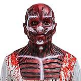 Flayed Frank Mask Skull Bloody Demon Scary Full Head Horror Cosplay Halloween Prop