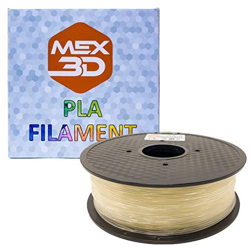 mex3d filamento PLA–1,75mm–1kg de, 1 kg, transparente, 1