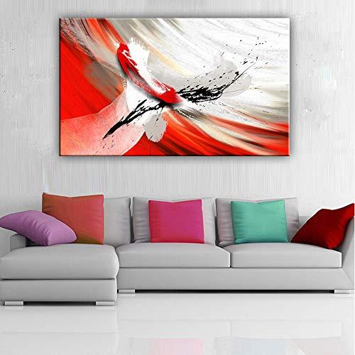 zgwxp77 abstrakte Farbspray, Wandbild, Dekoration, Gemälde für Wohn- und Schlafzimmer, a, 60*90cm Frameless