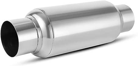 3 Inch Inside Inlet Muffler, AUTOSAVER88 Universal Stainless Steel Welded Exhaust Muffler Deep Sound for Cars, 14